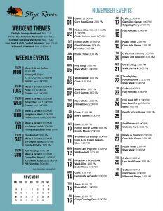 Styx River November 2018 Activity Calendar